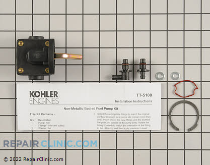 Fuel Pump, Kohler Engines Genuine OEM  47 559 10-S