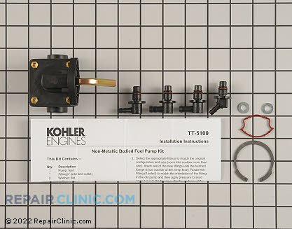 Fuel Pump, Kohler Engines Genuine OEM  47 559 11-S - $136.65