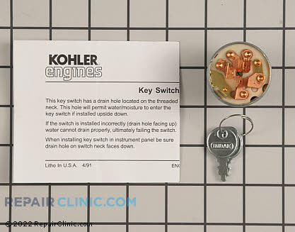 Ignition Switch, Kohler Engines Genuine OEM  25 099 32-S