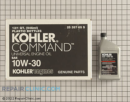 Kohler Command Engine Oil, Kohler Engines Genuine OEM  25 357 05-S