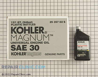 Kohler Magnum Engine Oil, Kohler Engines Genuine OEM  25 357 02-S - $57.00