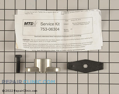 Blade Adapter (Genuine OEM)  753-06304