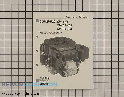 Repair Manual, Kohler Engines Genuine OEM  12 690 01