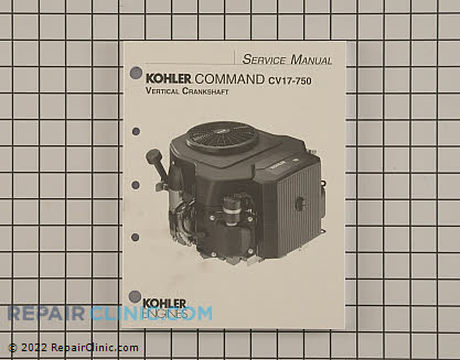 Repair Manual, Kohler Engines Genuine OEM  24 690 07, 2023326
