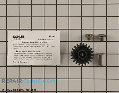 Governor Gear, Kohler Engines Genuine OEM  25 310 07-S