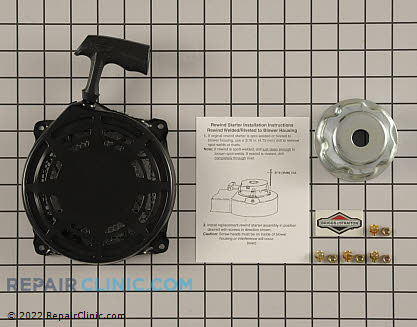 Recoil Starter, Briggs & Stratton Genuine OEM  497598