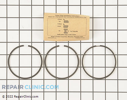 Piston Ring Set, Briggs & Stratton Genuine OEM  499631