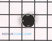 Fan Knob - Part # 1239586 Mfg Part # Y0300581