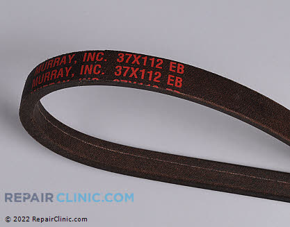 Belt: V-Belt, Briggs & Stratton Genuine OEM  37X112MA