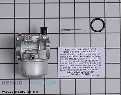 Carburetor, Briggs & Stratton Genuine OEM  494217