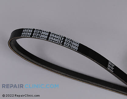 Belt: V-Belt, Ariens Genuine OEM  07213000