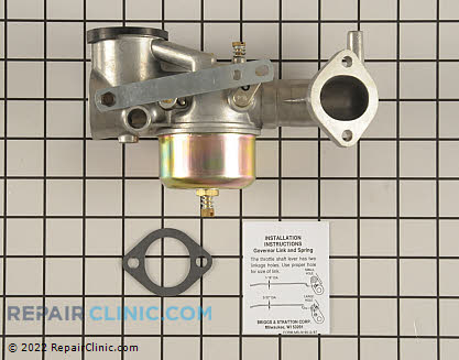 Carburetor, Briggs & Stratton Genuine OEM  491590