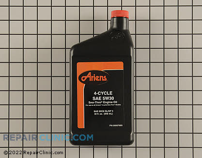 Single Bottle of Engine Oil, Ariens Genuine OEM  00067600