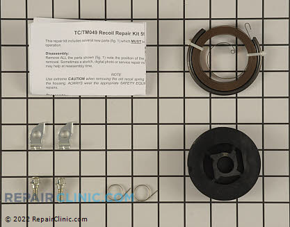 Rewind Pulley and Spring, Tecumseh Genuine OEM  590779