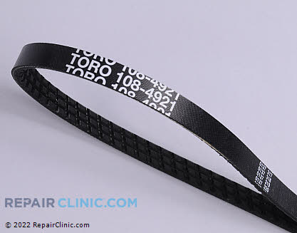 Belt: Drive, Toro Genuine OEM  108-4921