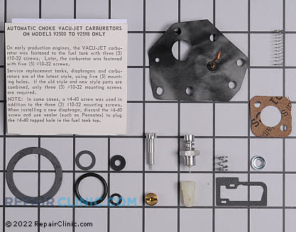 Carburetor, Briggs & Stratton Genuine OEM  494622