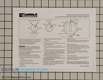 Kenmore Washer Installation Instructions
