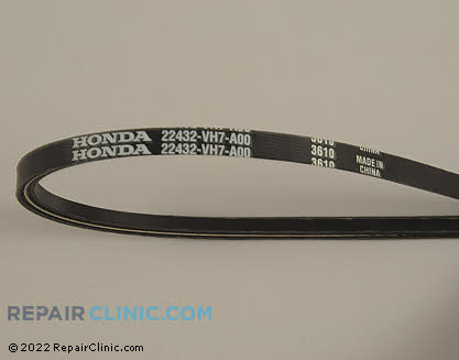 Belt: V-Belt, Honda Power Equipment Genuine OEM  22432-VH7-A00 - $8.95