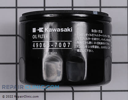 Oil Filter, Kawasaki Genuine OEM  49065-7007