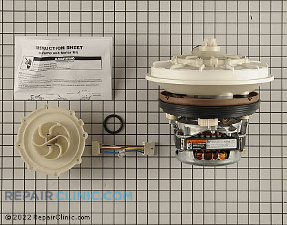 Pump and Motor Assembly W10428773 Main Product View