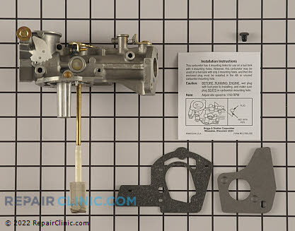 Carburetor, Briggs & Stratton Genuine OEM  499953