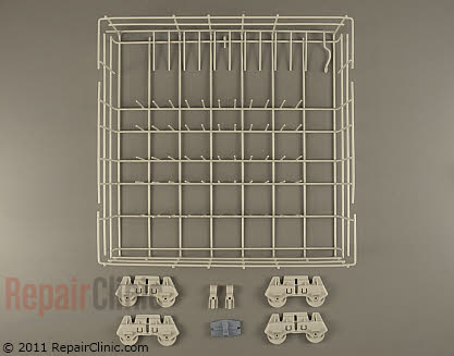 Whirlpool Lower Dishrack Assembly