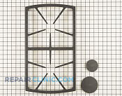 Burner Grate - Part # 1392616 Mfg Part # 72469SB