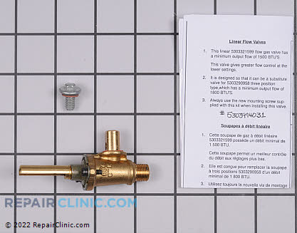 Surface Burner Valve 5303935234      Main Product View