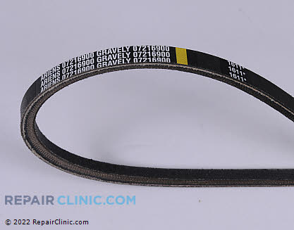 Belt: V-Belt, Ariens Genuine OEM  07216900