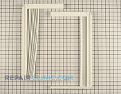 Window Side Curtain and Frame - Part # 1565659 Mfg Part # 5304476334