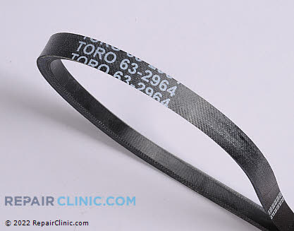Belt: V-Belt, Toro Genuine OEM  63-2964, 1859585