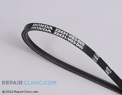 Belt: V-Belt, Honda Power Equipment Genuine OEM  22431-VG3-D00