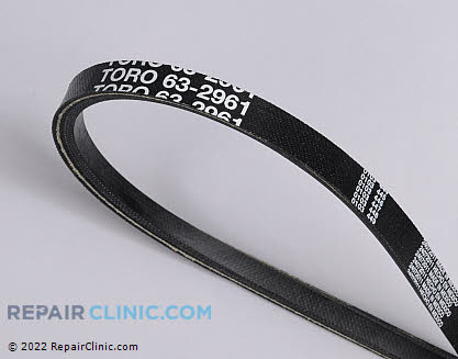 Belt: V-Belt, Toro Genuine OEM  63-2961, 1859579