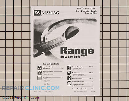 Owner's Manual 8113P411-60     Main Product View