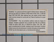 Label - Part # 1063071 Mfg Part # 5304440334