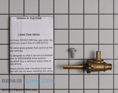Surface Burner Valve (OEM)  5303935185 - $46.80