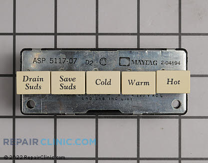 Washing Machine Temperature Control Switches