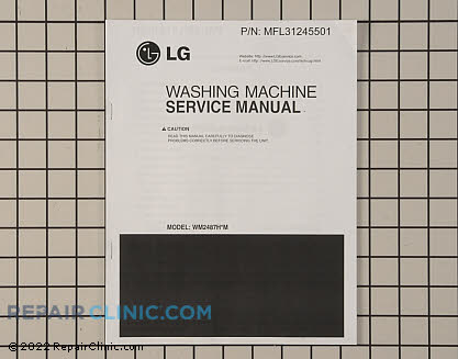 Repair Manual (OEM)  MFL31245501 - $22.55