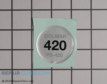 Decal, Dolmar Genuine OEM  980115678