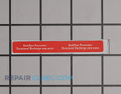 Label - Part # 1956197 Mfg Part # 940830001