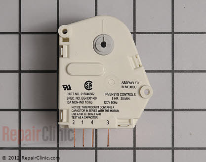 Defrost Timer (OEM)  215846602, 12762