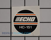 Label - Part # 2268189 Mfg Part # X503001300