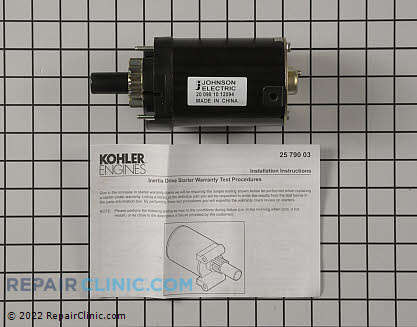 Electric Starter, Kohler Engines Genuine OEM  20 098 10-S