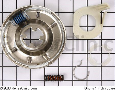 Whirlpool direct drive washing machine clutch assembly with hardware.