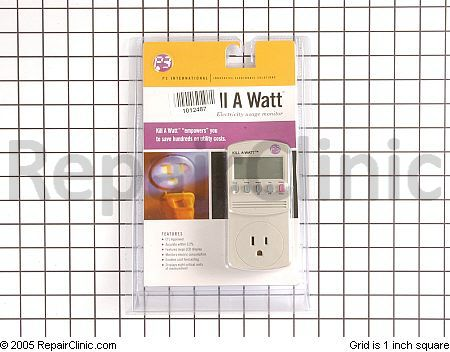 You just plug the Kill-a-Watt into the wall, then plug the appliance into