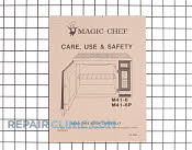Manuals, Care Guides & Literature - Part # 352332 Mfg Part # 06010233