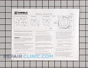 Manuals, Care Guides & Literature - Part # 936842 Mfg Part # 134107000