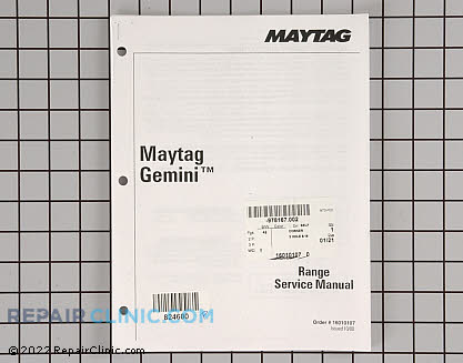 Repair Manual 16010107        Main Product View