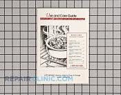 Manuals, Care Guides & Literature - Part # 191626 Mfg Part # LIT3188264