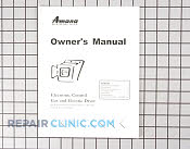 Manuals, Care Guides & Literature - Part # 793569 Mfg Part # 40093301
